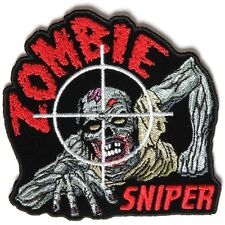 "2.75"" zombie sniper Embroidered Iron On/Sew On Patch"