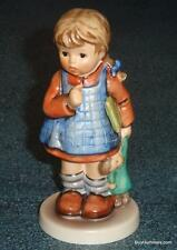 """I Wonder"" Goebel Hummel Figurine #486 TMK7 Little Girl In Dress With Doll GIFT!"
