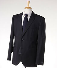 NWT $895 HUGO BOSS 'The James/Sharp' Black-Gray Fine-Stripe Wool Suit 40 R