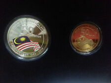 Malaysia day Silver Proof Coin set of 2 series no.40 Low number