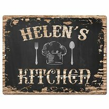 PP1706 HELEN'S KITCHEN Plate Chic Sign Home Room Kitchen Decor Birthday Gift