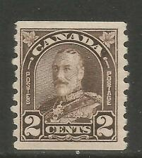 Canada 1930-31 King George V 2c dark brown coil (182) MH