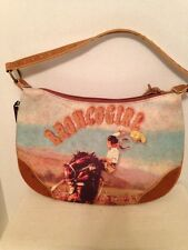 """Far Nine  """" BRONCOGIRL """" Womens Purse With Sequins And Studs"""