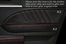 RED Stitch 2x FRONT DOOR CARD Trim in pelle copre gli accoppiamenti ALFA ROMEO 159 05-12