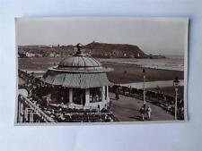 REAL PHOTO POSTCARD THE SPA BANDSTAND SCARBOROUGH LONDON UNITED KINGDOM BEACH