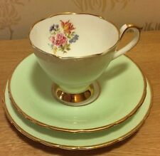 Hudson & Middleton Sutherland Bone China Green Trio Pattern 3169 (Harlequin set)