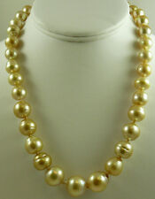 South Sea Golden 15.7mm x 17.1mm Pearl Necklace 14K Yellow Gold Clasp