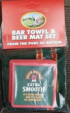 John Smiths Bar Towel and 10 Beermats (pp)
