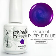 15ml Mabel's Gel Nail Art Soak Off Color UV Gel Polish - Gradient Purple Blue
