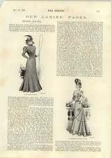 1898 Graceful Walking Dress New Driving Coat Hangings At Tyburn