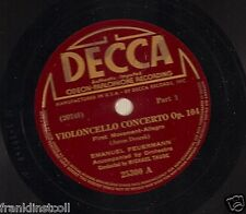Emanuel Feuermann on 78 rpm Decca Dvorak Cello Concerto Op. 104