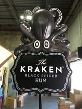 BRAND NEW KRAKEN BLACK SPICED RUM LARGE 3D OCTOPUS DISPLAY POLE TOPPER