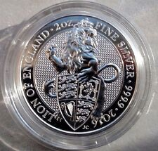 2016 Queen's Beast THE LION OF ENGLAND 2 oz 9999 Fine Silver Coin in Capsule