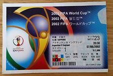 World Cup 2002 Ticket - England v Argentina