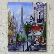 "Paris Torre Eiffel De Cerámica imagen mosaico Cocina Pared Arte Placa 11x14 "" 05019"
