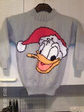 HAND KNITTED XMAS DUCK JUMPER AGE 4/5