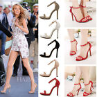 Fashion Lady's Sexy Stilettos High Heels Ankle Strap Buckle Womens Shoes Sandals