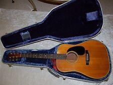 Beautiful Vintage Martin D-28 Guitar With Internal Pick-up Mic & Blue Hard Case