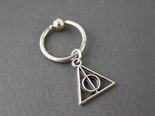 "Harry Potter Deathly Hollows Captive 14g 3/8"" 10mm Triangle Cartilage Earring"
