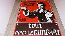 TOUT POUR LE KUNG-FU Gong fu xiao zi ! affiche cinema karate kung-fu 1977