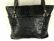 "Black Formal 10X12"" Jotta Jayco Calif CHAINMAILE Metal Beaded Bag Purse"