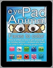 eyePad Animal Faces to Color (Eyepad Activity Books)