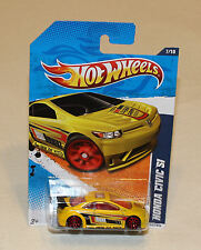 2011 Hot Wheels Nightburnerz #117 Honda Civic Si Yellow New