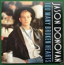 "Jason Donovan Too Many Broken Hearts 7"" Single Picture Sleeve"