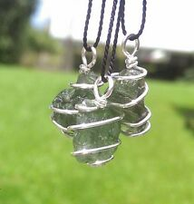 MOLDAVITE NECKLACE Hand Wrapped In 925 Sterling! Synergy 12 Moldavite Pendant!