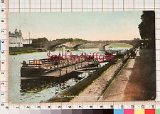 Nottingham, Trent Bridge vintage postcard Ilkeston postmark 1914-Steamboat