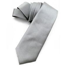 CRAVATE homme 8 cm marque Française en SOIE Gris acier - Silk Necktie Cravatte