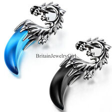 """Vintage Men Dragon Teeth Stainless Steel Pendant Necklace New Arrival 21.3"""""""