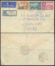 GOLD COAST AIRMAIL ENVELOPE POSTMARKS TAKORADI REGISTERED 1955 to GB