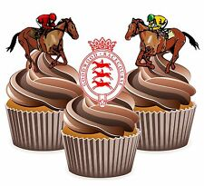 Horse Racing Goodwood Racecourse - 12 Edible Cup Cake Toppers Cake Decorations