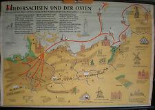 Scheda crocifissi Muro Carta schulkarte Bassa Sassonia e l'est Europa orientale 119x81