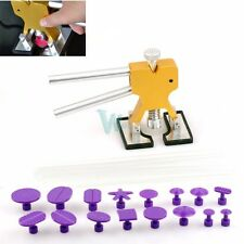 Paintless Car SUV Dent Repair Tools PDR Puller w 16 Puller Tabs 5 Glue Sticks US
