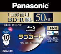 10 Panasonic Blu ray 50gb 4x Speed Inkjet Printable Bluray dvd bdr Region Free