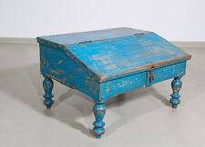 Schreibpult Schreibtischaufsatz Vintage Teakholz blau