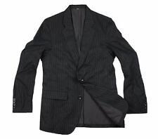 NEW CHEVIGNON STRIPE MEN'S DESIGNER SPORTS COAT FASHION BLACK BLAZER JACKET / L
