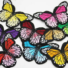 10 MONARCH BUTTERFLY EMBROIDERED FABRIC SEW ON APPLIQUE PATCH BUTTERFLIES