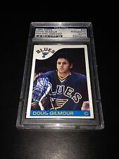 Doug Gilmour Signed 1985-86 Topps St.Louis Blues Card PSA Slabbed #83476203