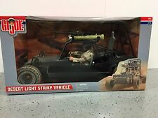 "GI Joe Desert Light Strike Vehicle w/12""Soldier Action Figure 2000 Unopened NRFB"