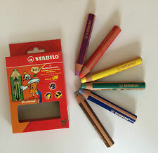 STABILO Woody 3 in 1 Buntstifte 6er Farbstifte Malstifte Multitalent Stift