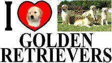 I LOVE GOLDEN RETRIEVERS Car Sticker By Starprint-Featuring the Golden Retriever
