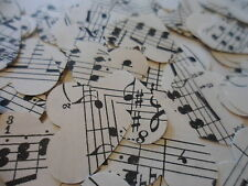 100,Shabby Chic/ Vintage Classical Music/Wedding /Confetti/Hearts/Decoration