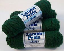 Lamb's Pride Bulky Yarn, 85% Wool/15% Mohair, Color Christmas Green