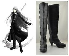 Black Butler Kuroshitsuji Undertaker Cosplay Costume Boots Boot Shoes Shoe