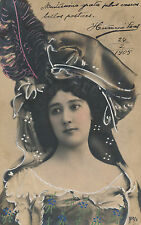 CAROLINA OTERO La Belle Otero - Spanish Artiste & Courtesan Postcard RPPC