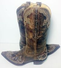 OLD GRINGO Brown Leather Cowboy Cowgirl Western Boots Women's Size 8.5