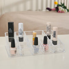 15 Compartment Cosmetic Organiser Clear Acrylic Make Up Lipstick Holder Storage